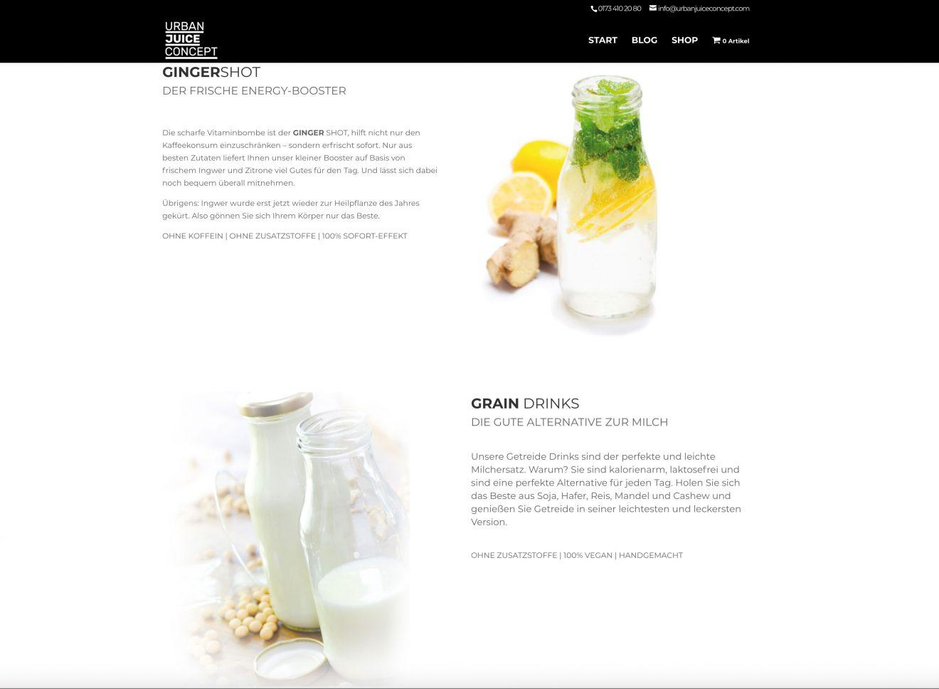 urbanjuiceconcept-webseite